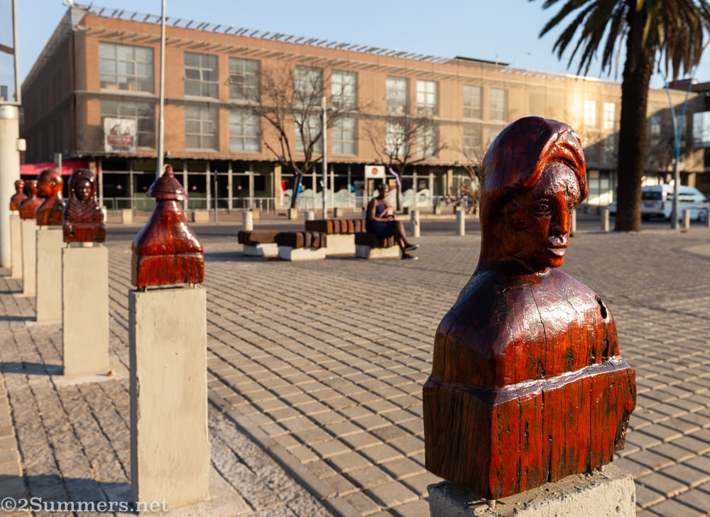 Wooden Newtown heads in downtown Joburg