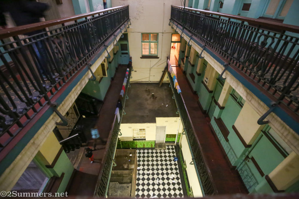 Looking down from the second floor of Somerset House, 2015