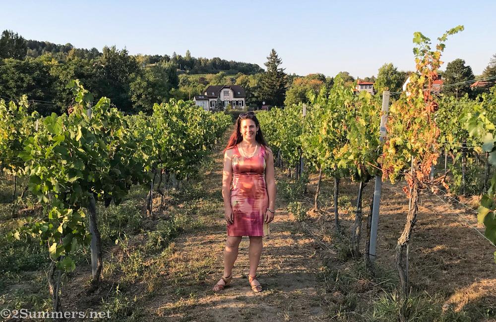 Heather at a vineyard in Vienna