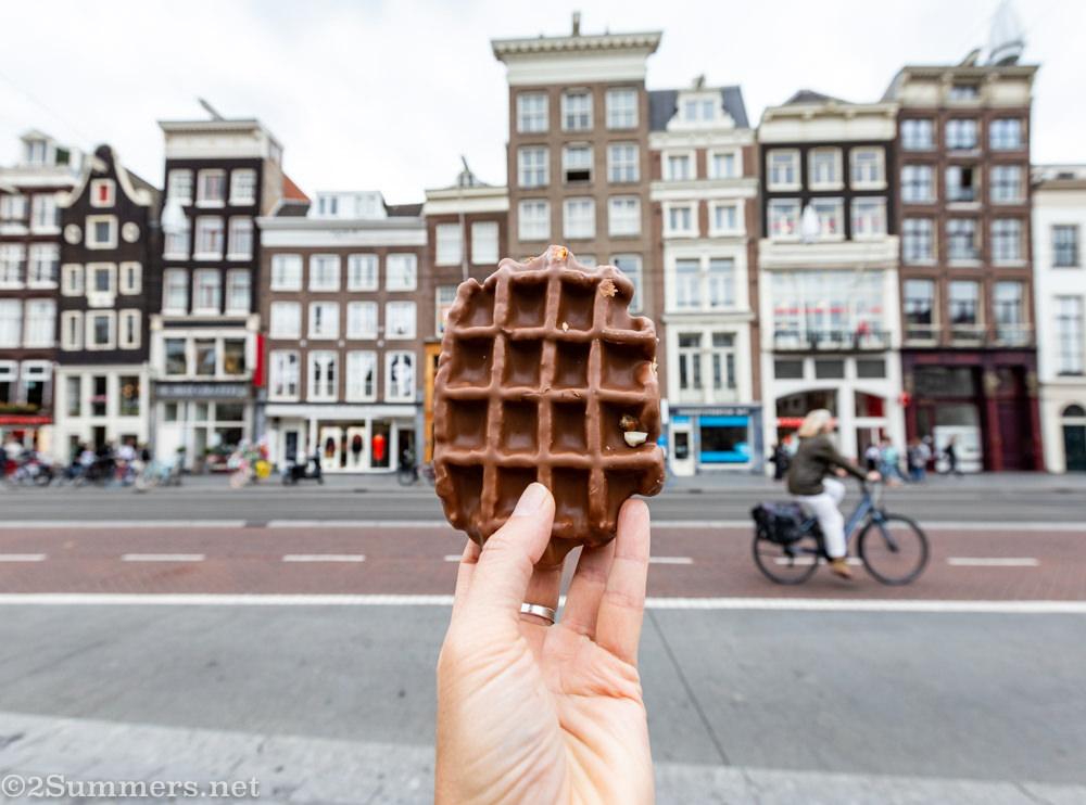 Belgian waffle in Amsterdam