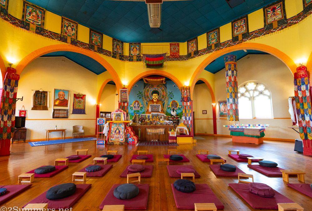 Meditating at the Buddhist Centre in Fietas