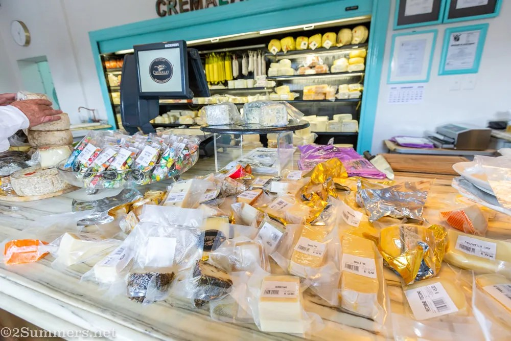 Cheese counter at Cremalat