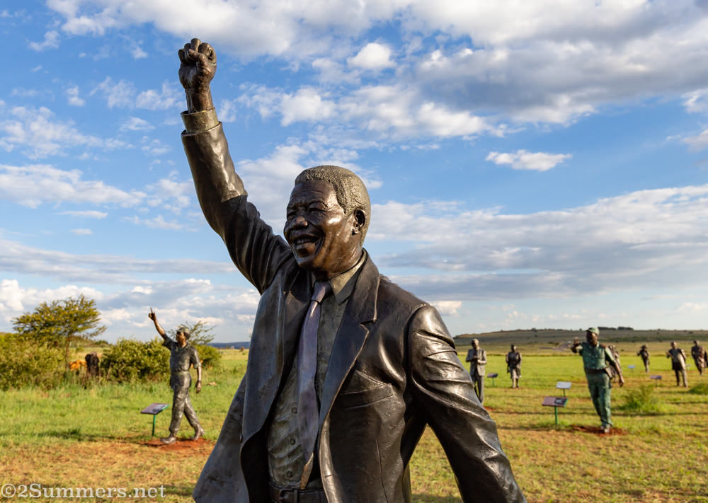 Madiba statue at Long March to Freedom in Maropeng