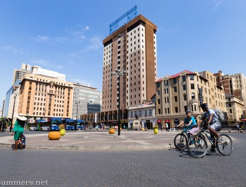 Joburg cycling tour with Kennedy