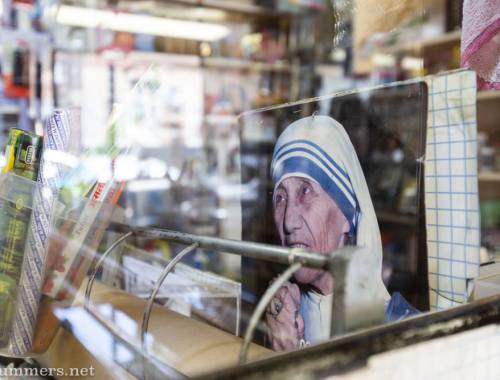 Photo of Mother Theresa at Langwan Cleaners