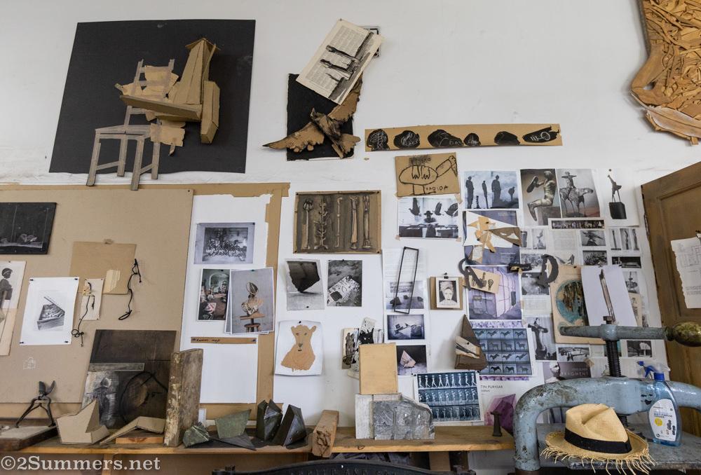 Studio of Louis Olivier in Workhorse Bronze Foundry.