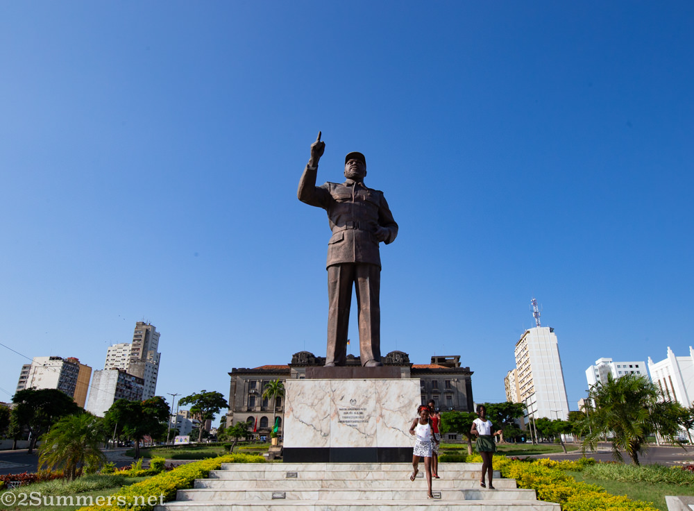Statue of Samora Machel in Maputo, Mozambique.