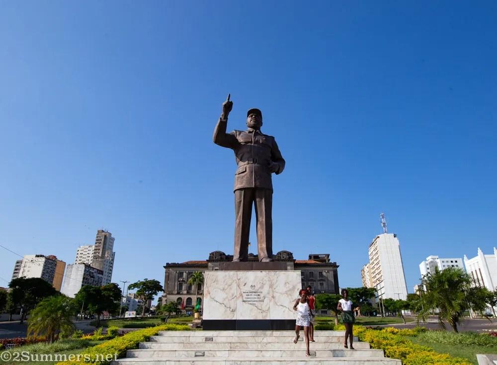 Statue of Samora Machel in Maputo, Mozambique.