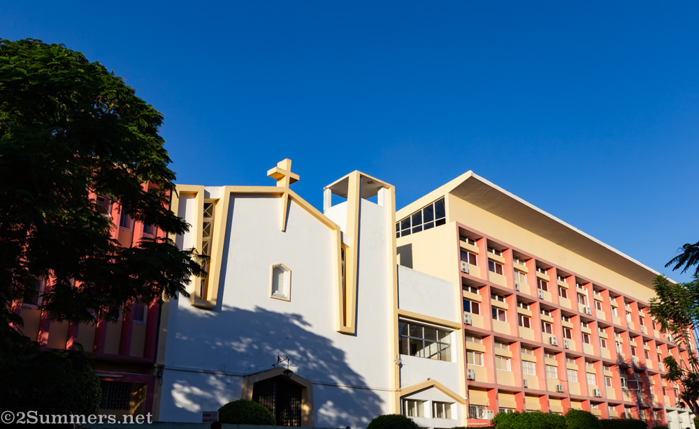 Interesting church and apartment building in Maputo