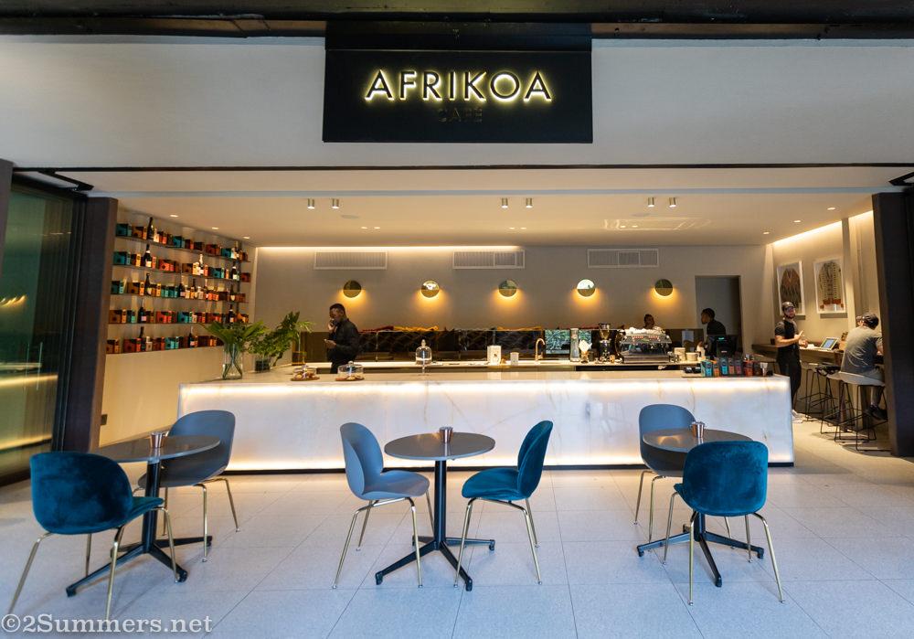 AFRIKOA Cafe in Rosebank Keyes Art Mile