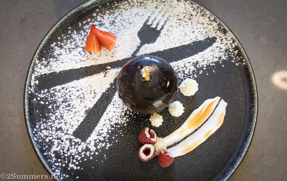 Trio chocolate dessert from AFRIKOA