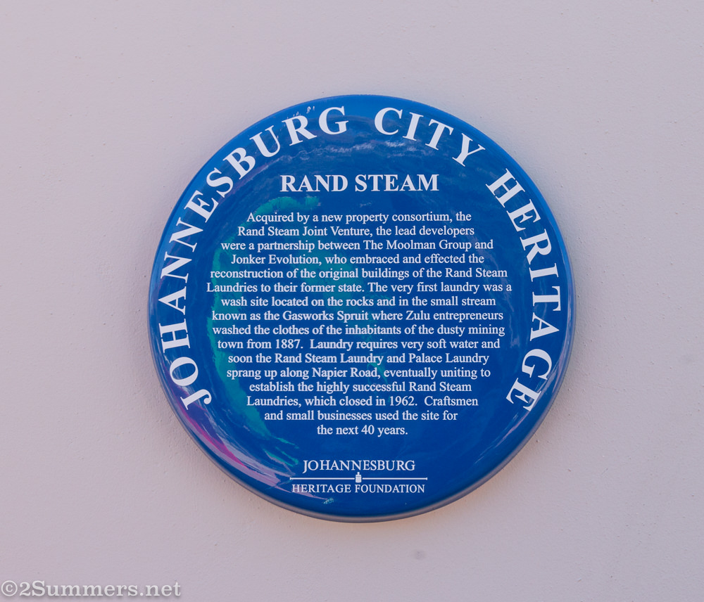 Rand steam blue heritage plaque