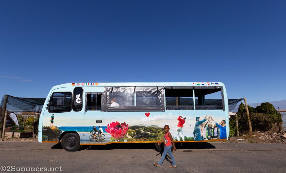 The Hermanus sightseeing bus.