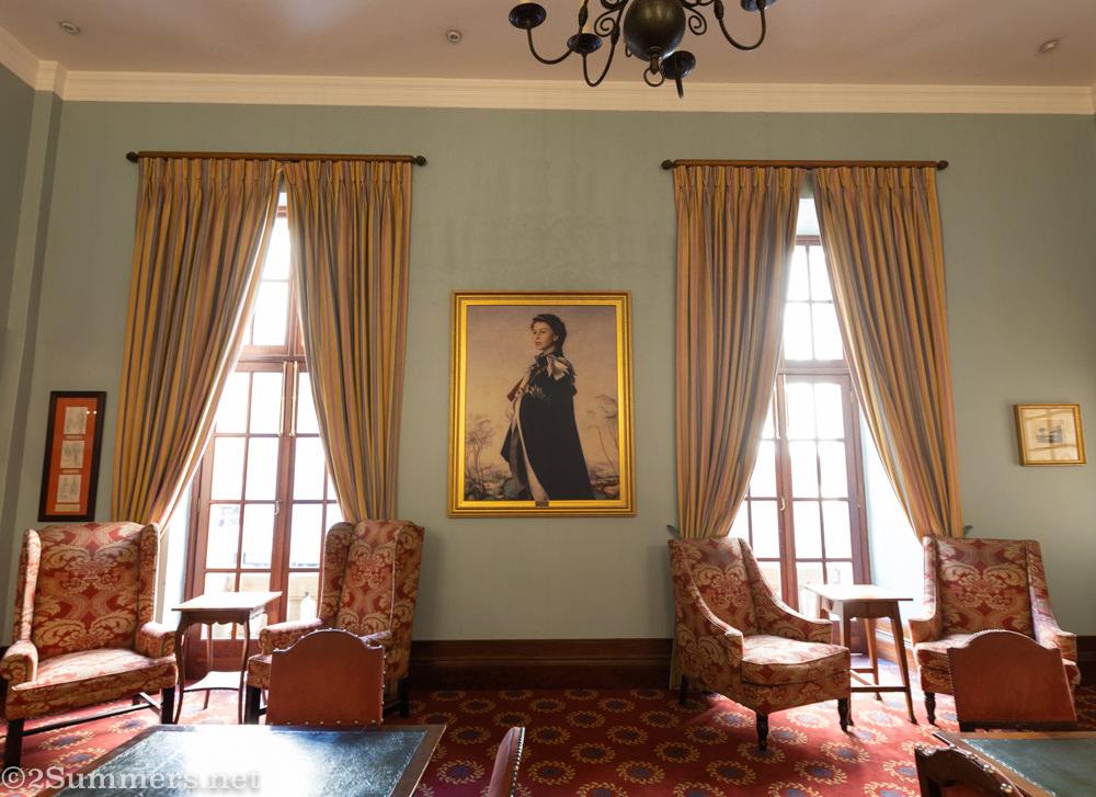 Portrait of Queen Elizabeth II in the Rand Club