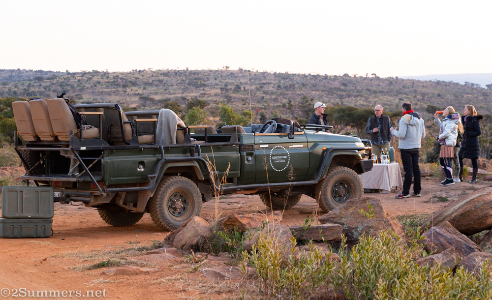 Game drive sundowners with Mhondoro