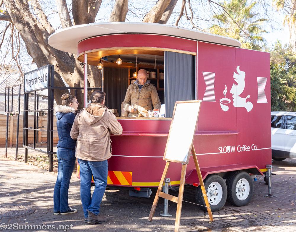 Slouw Coffee trailer in Potchefstroom