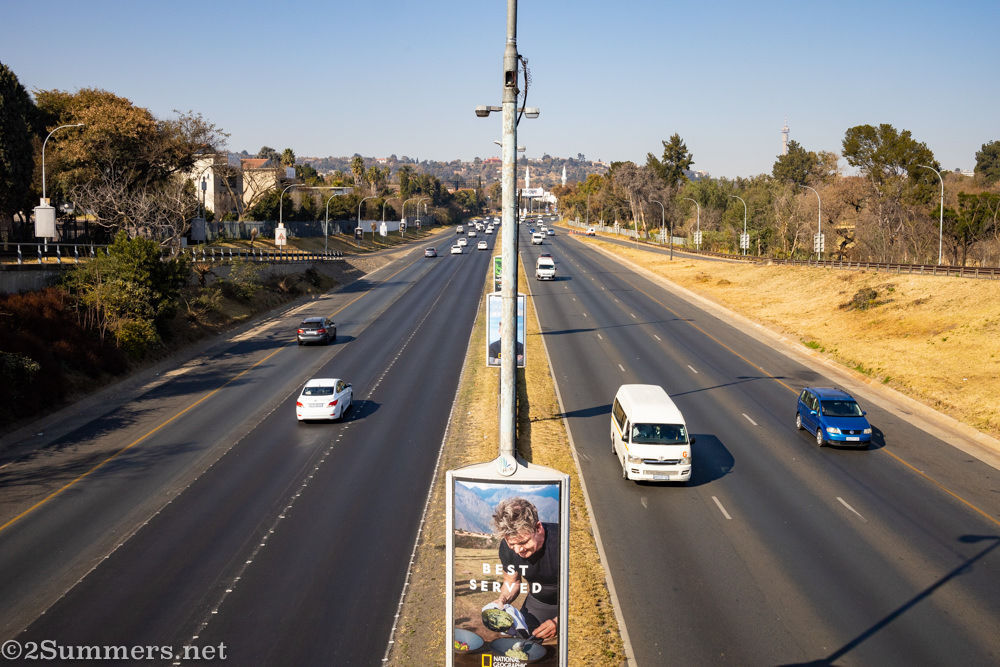 M1 overpass in Houghton, Johannesburg