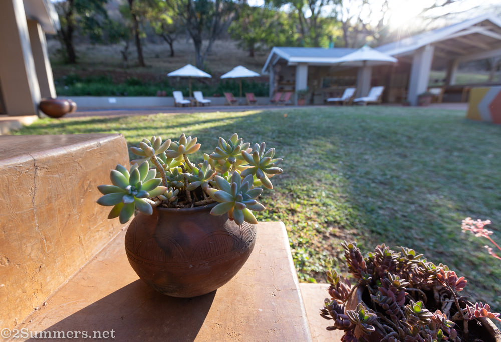 Room terrace at Madi a Thavha Mountain Lodge in Limpopo
