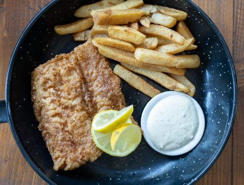 Fish and chips from Tiberius Fish Emporium in Sandringham, Johannesburg