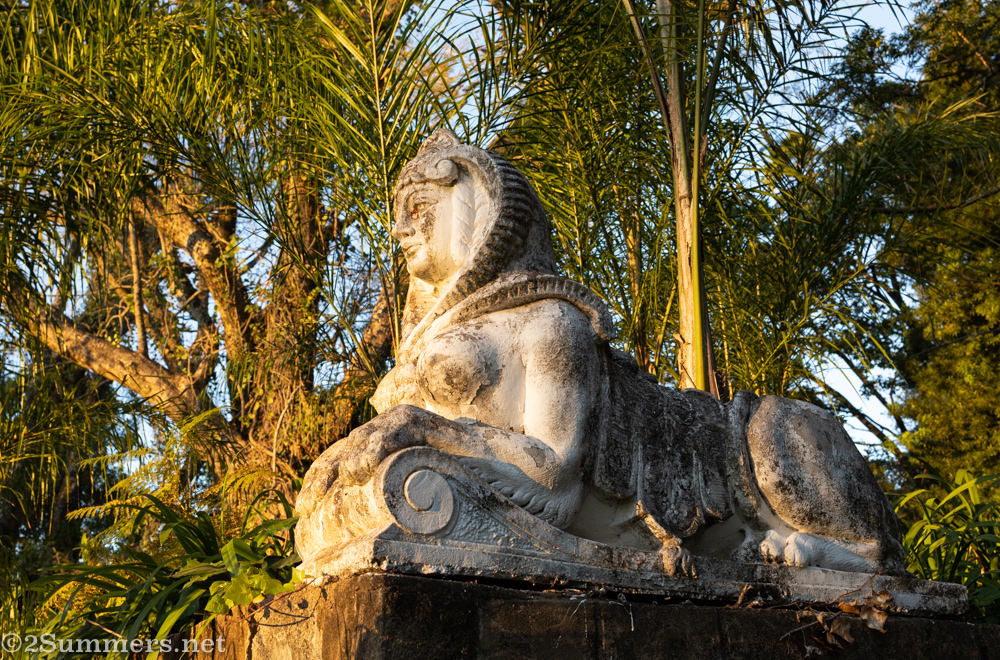 Sphinx statue at Kings Walden