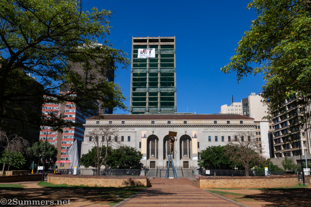 The Bank of Lisbon building behind the Joburg City Library