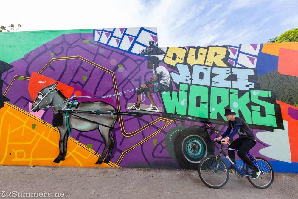 Our Jozi Works piece in Louis Both S-Bend mural