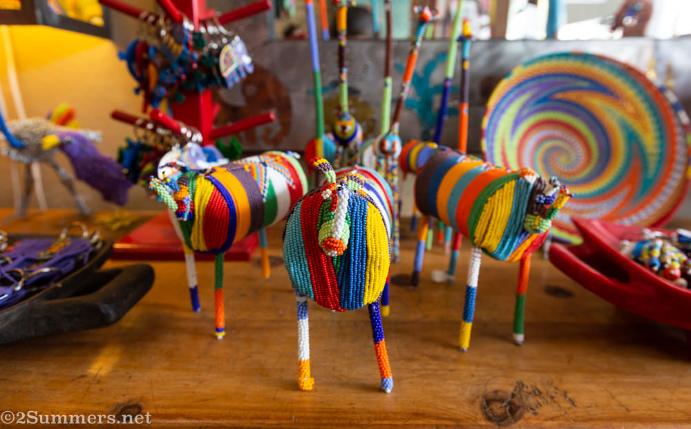Beaded animals at Art Africa