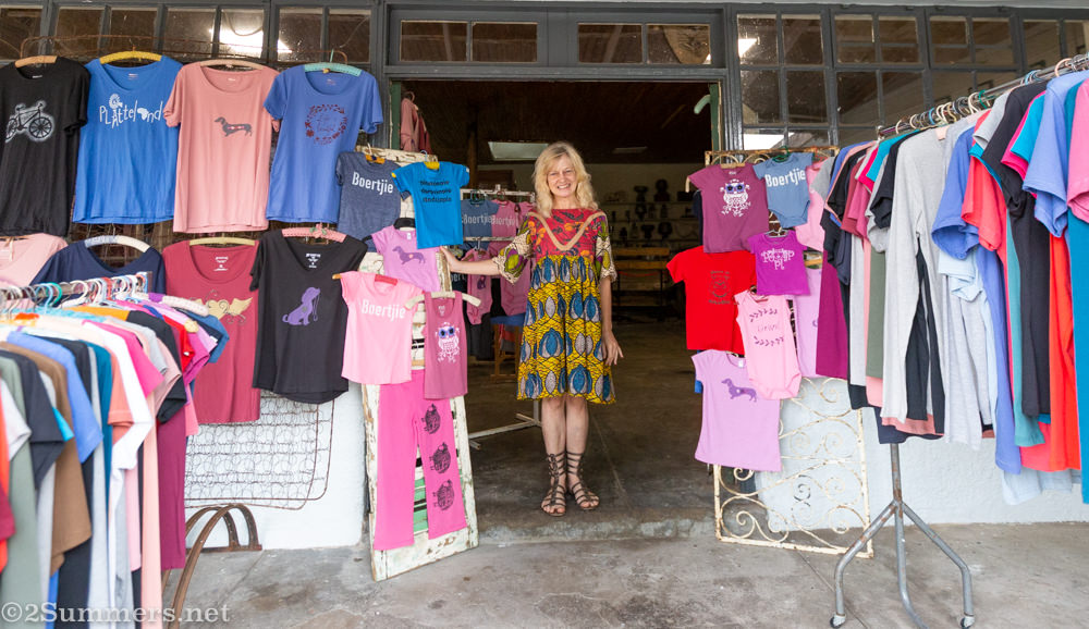 Debbie and her t-shirts