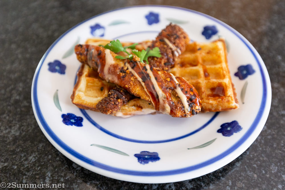 Chicken and waffles from the Kwoffee Shop in Melville