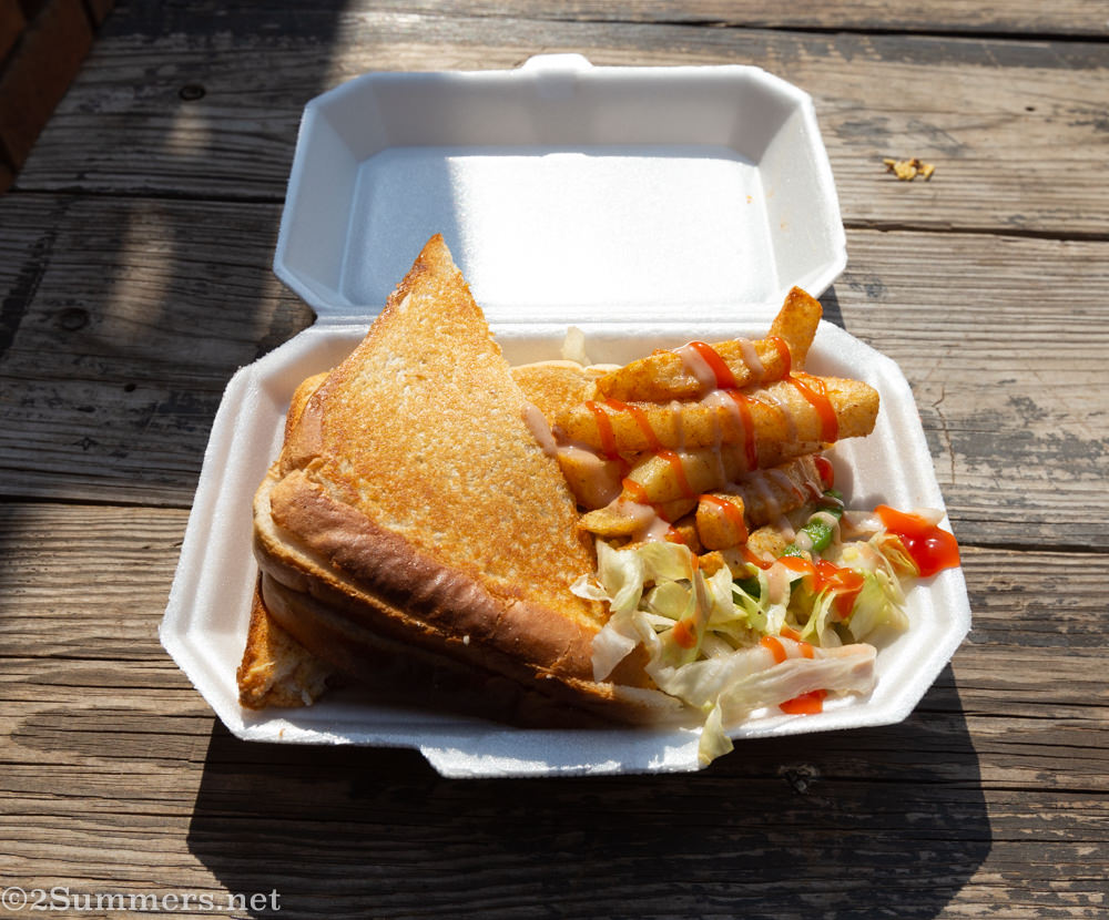 Toasted sandwich from African Accent