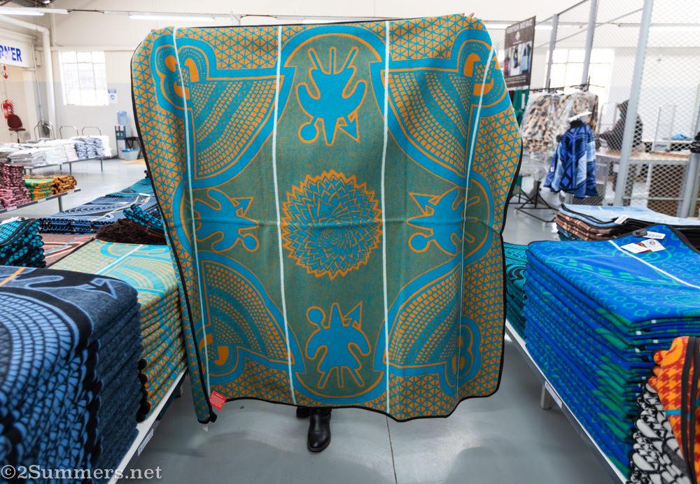 Spiral aloe Basotho blanket