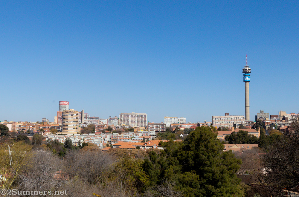 Joburg City as seen from the Wilds