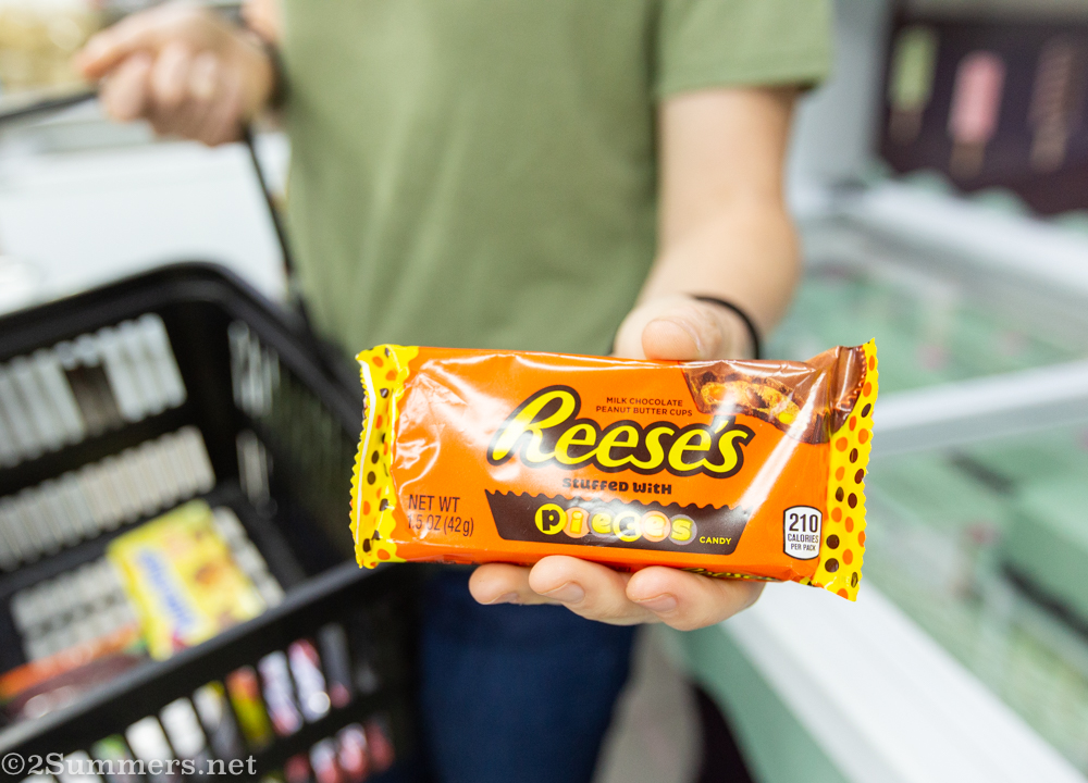 Interesting Reese's Peanut Butter Cups with Reese's pieces inside.