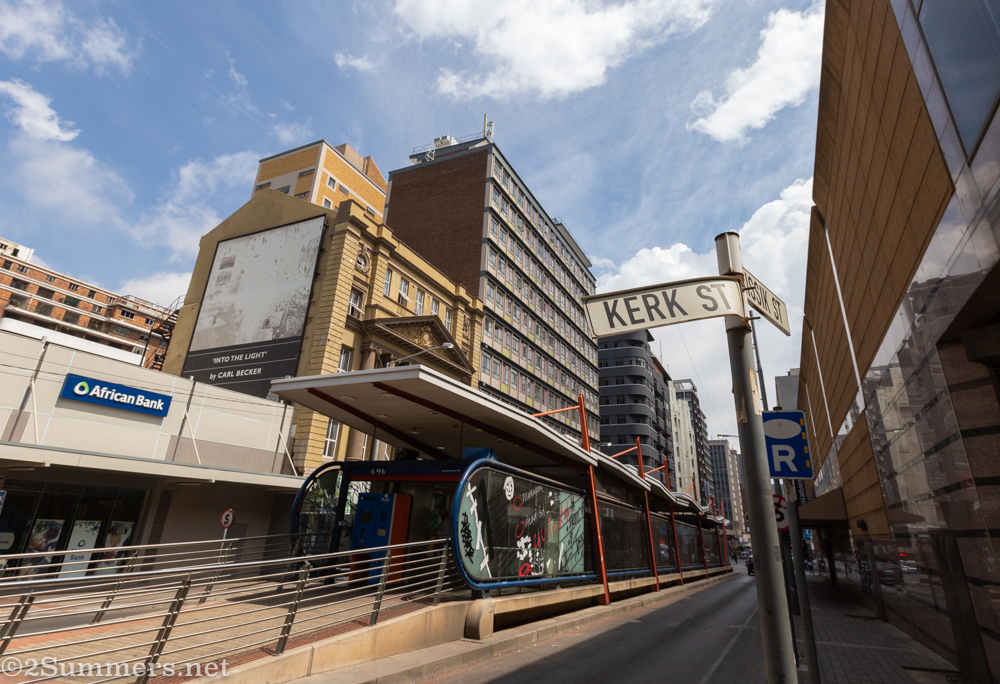 Kerk Street sign in downtown Joburg