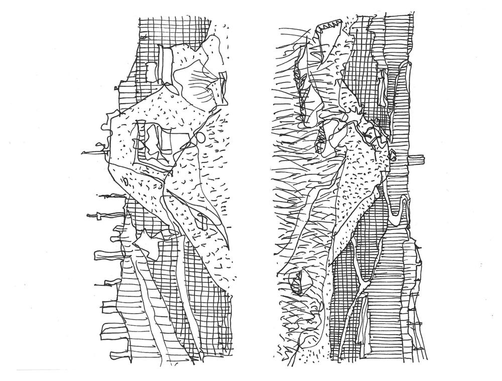 Thorsten's sketch of Joburg from Linksfield Ridge