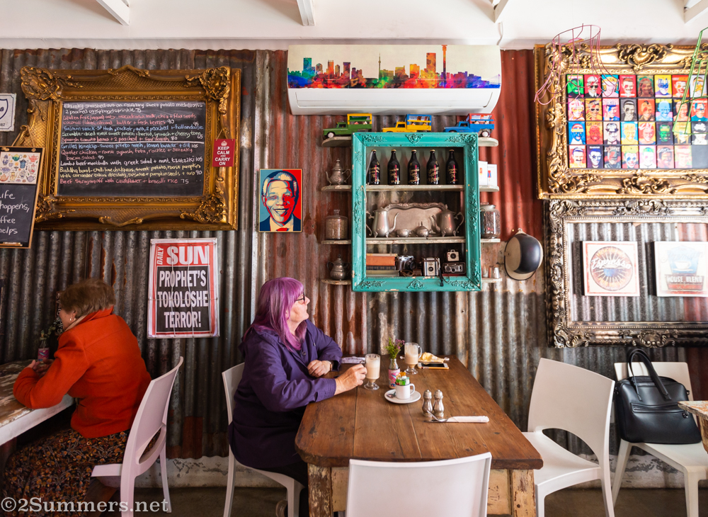 Gail at the Red Door Cafe in Edenvale