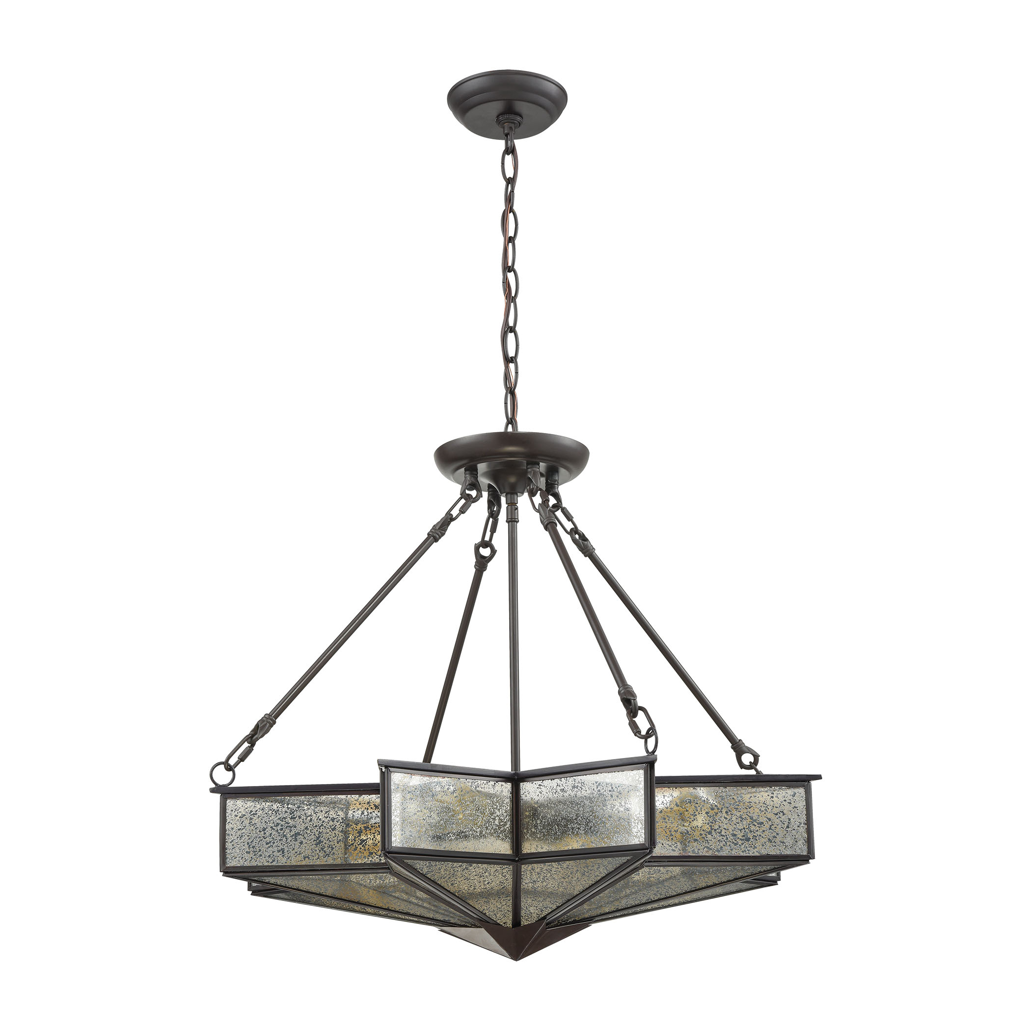 Decostar 4 Light Chandelier In Oil Rubbed Bronze By Elk