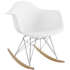 Plastic Lounge Chair Camping Folding Chairs Rocker In White By Modway Seven Colonial
