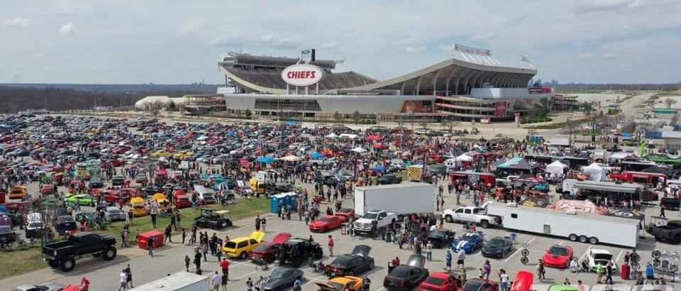 Support for people attending an auto show at Arrowhead Stadium.