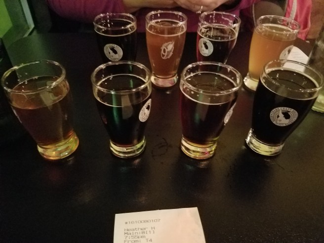 We got to create our own flight of beers.
