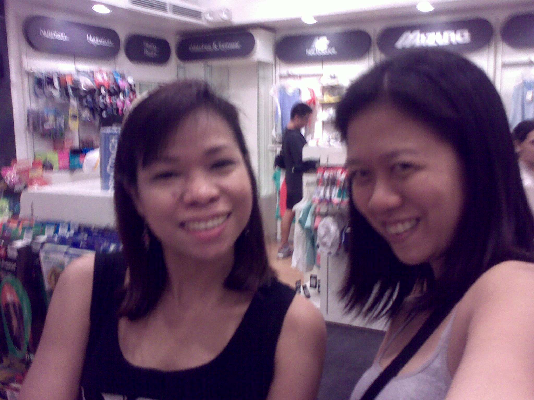 vero (after spending P8K for her new running shoes) & me (yey! vero might be my running buddy soon)