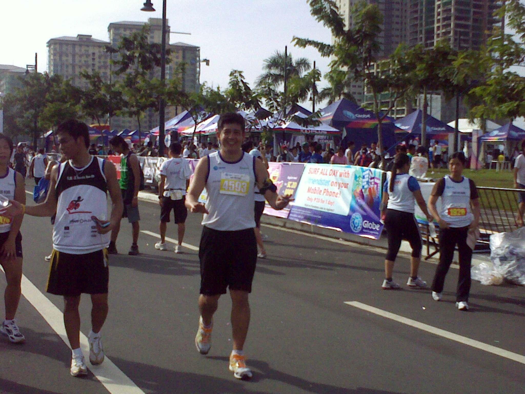Kuya Raoul at the Finish Line