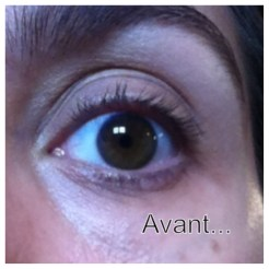 Test mascara MyLittleBeauty - Avant