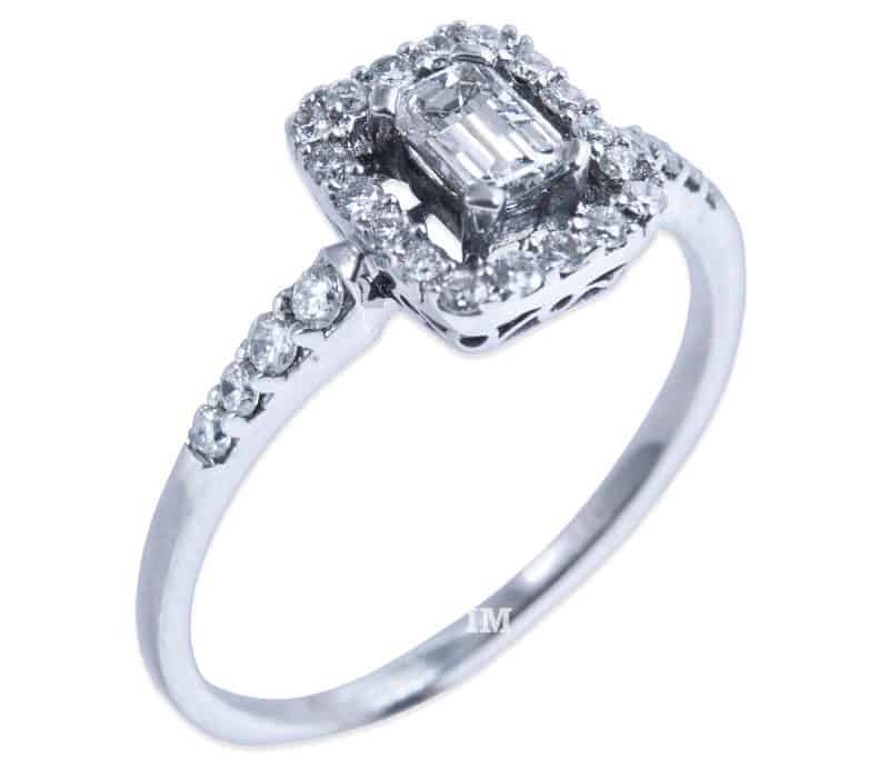Damenring IM688 Verlobungsring Baguette Diamant  020ct