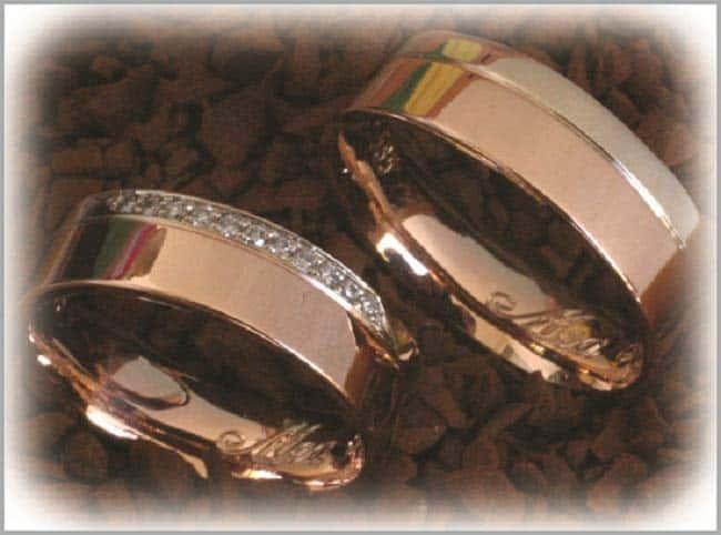 TrauringeEheringe IM264 11 Diamanten  015K Rotgold