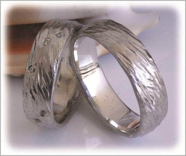 TrauringeEheringe IM298 12 Diamanten  018K Weigold oder
