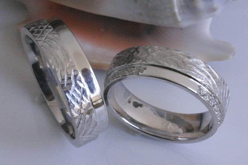 TrauringeEheringe IM291 21 Diamanten  021K Platin gehmmert