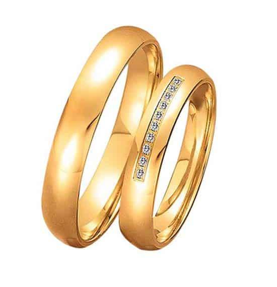 TrauringeEheringe IM502 10 Diamanten  015K Gelbgold