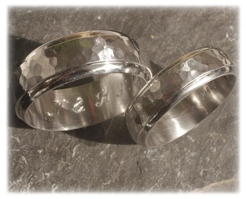 TrauringeEheringe IM271 Graugold oder Platin 600950 gehmmertklassisch  Trauringe Gold