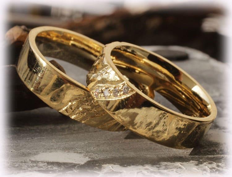 TrauringeEheringe IM112 mit Diamanten Gelbgold 585